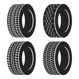 Car tire or rubber wheel for auto isolated