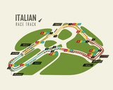 Italian grand prix Monza race track for formula 1