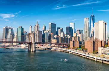 Fototapeta wieżowce Manhattan widok z Brooklynu