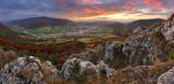 Slovakia countryside - Summer mountain panorama - Nice village O