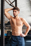 Fashion fitness man in gym