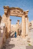 Ruins city of Jerash in Jordan / The Arch of Hadrian in Jerash