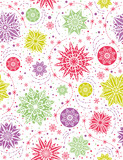 Christmas seamless pattern background with snowflakes and stars,