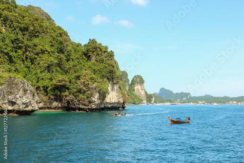 Poster Loh samah bay at phiphi island, krabi Thailand.
