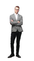 Full length of a business man with crossed arms © FotolEdhar