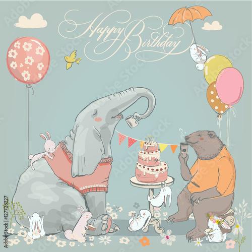 Fototapeta Urodziny słonia