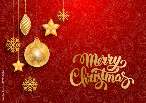 Poszter Festive Christmas Greeting Card