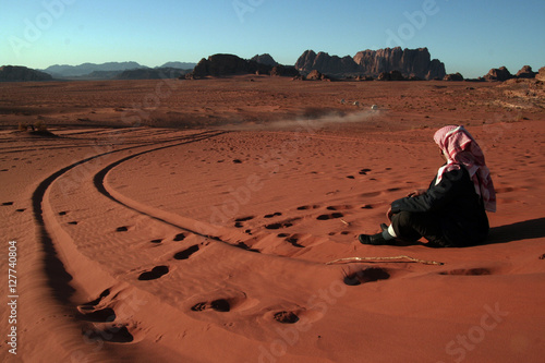 Poster Desierto de Wadi Rum. Jordania.