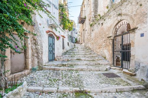 Scenic sight in Peschici, Foggia Province, Puglia (Italy)