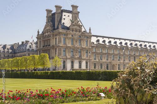 Louvre Paris from Jardin des Tuileries - France Poster