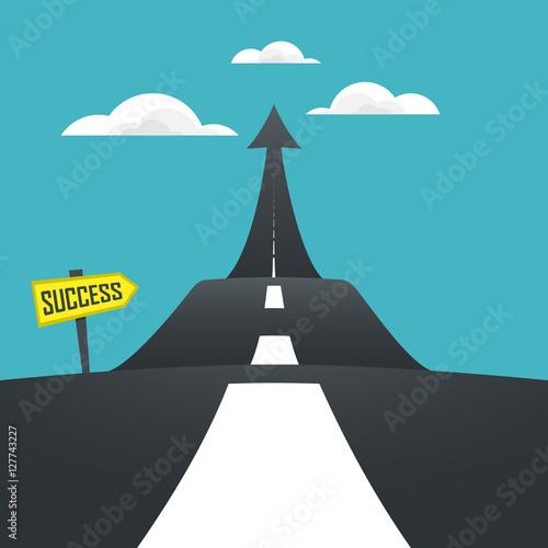 Fototapeta Concept of the road to success. Vector illustrator