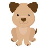 Funny puppy cartoon vector illustration