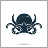 Octopus icon. Simple design for web and mobile