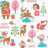 Cute Christmas animals pattern