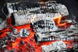 firewood ash after fire