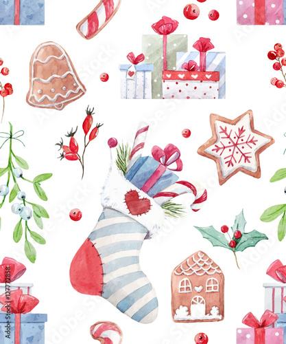 Cotton fabric Nice christmas vector pattern