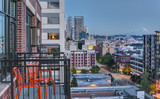 Patio Chairs offer view of Seattle at Blue Hour - 127776252
