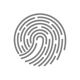 Vector linear symbol and icon fingerprint