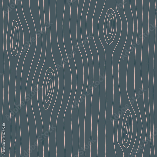Wood texture hand drawn seamless pattern. Wood lines, grain. Vector illustration - 127792816