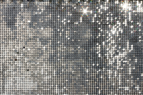 Fototapeta Silver background mosaic with light spots and stars