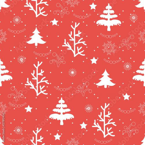 Cotton fabric Christmas winter background