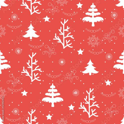 Materiał do szycia Christmas winter background