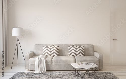 Living-room interior. 3d rendering.