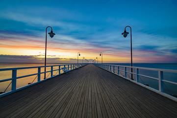 Fototapeta drewniany pomost nad Bałtykiem Gdynia