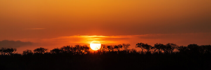 Panorama of South African Sunset © adogslifephoto