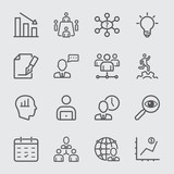 Management workflow line icon - 127842483