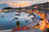 Evening view of Mikrolimano marina in Athens, Greece. - 127853463