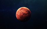 Mars - High resolution beautiful art presents planet of the solar system. This image elements furnished by NASA