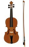 Un violon et son archet.