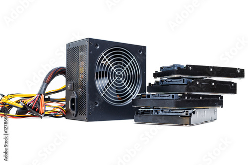 Poster power supply with cables unit for full ATX tower pc