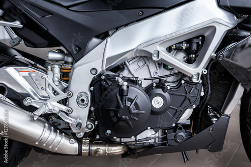 details of motorcycle, Motorbike into deep, Slika na platnu