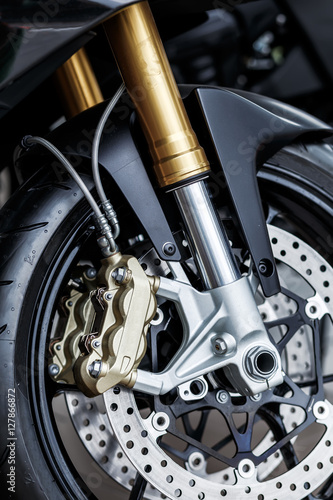 details of motorcycle, Motorbike into deep, плакат