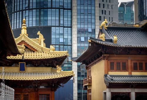Fotobehang Shanghai Jingan Temple Shanghai,China Asia