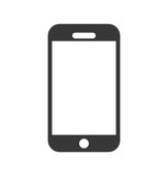smartphone technology line icon vector illustration design - 127873412