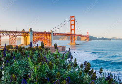 Plakát, Obraz Golden Gate Bridge Sunset