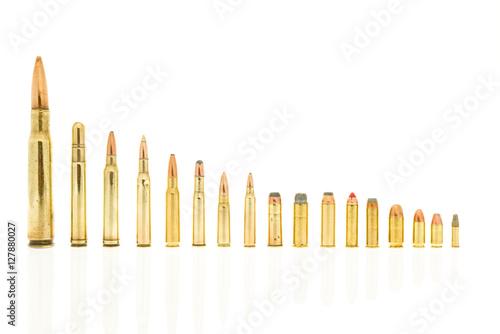 Poster Handgun and rifle ammo