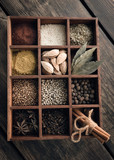 Kitchen set of spices