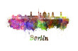 Berlin V2 skyline in watercolor