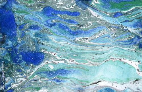Fototapeta Marble paper. Marble ink texture.