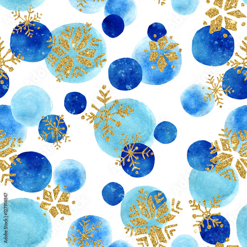 Materiał do szycia Abstract winter seamless pattern