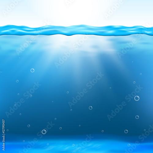 Tuinposter Koraalriffen Underwater view vector illustration