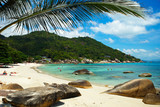 Landscape photo of tranquil Samui island beach resort