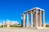 Temple of Olympian Zeus and Acropolis Hill, Athens, Greece - 127922484