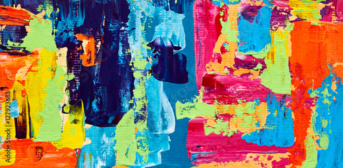 Abstract oil painting. Art brushstrokes watercolor. Modern and contemporary artwork. Colorful background © Fresh Stock