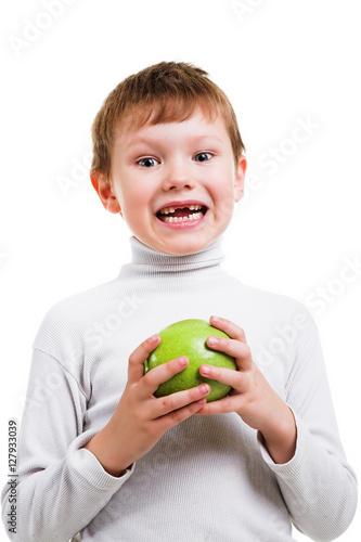 Poster boy showing his missing milk teeth