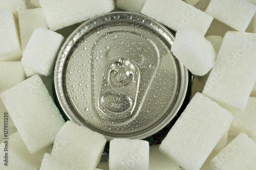 Poster Les pierres de sucre et le soda
